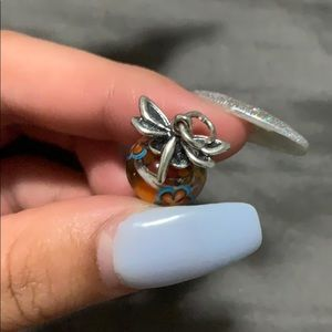 James avery art glass dragonfly charm